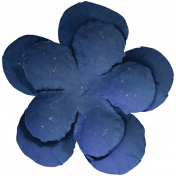 Spring Day- Navy Blue Flower