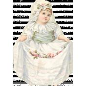 Spring Day- Vintage Girl Ephemera