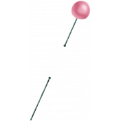 Spring Day- Pink Pearl Pin