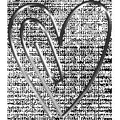 Raindrops & Rainbows- Heart Doodle Clip