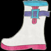 Raindrops & Rainbows- Boot Doodle 1