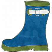 Raindrops & Rainbows- Boot Doodle 2