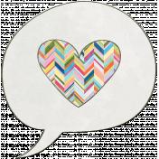Raindrops & Rainbows- Speech Bubble Doodle