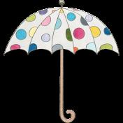 Raindrops & Rainbows- Umbrella Doodle 1
