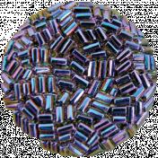 Raindrops & Rainbows- Purple Button