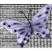 Raindrops & Rainbows- Purple Butterfly