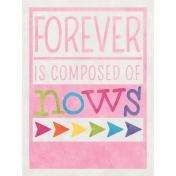 Raindrops & Rainbows- Forever Journal Card