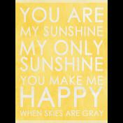Raindrops & Rainbows- Sunshine Journal Card