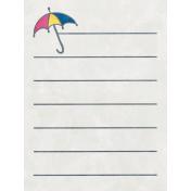 Raindrops & Rainbows- Umbrella Journal Card