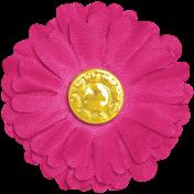 Raindrops & Rainbows- Dark Pink Flower 2