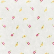 Raindrops & Rainbows- White Floral Paper