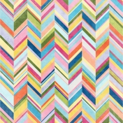 Raindrops & Rainbows- Chevron Paper