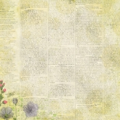 Raindrops & Rainbows- Newsprint Paper