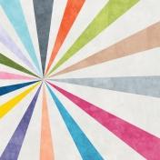 Raindrops & Rainbows- Sunburst Paper