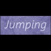 Raindrops & Rainbows- Jumping Word Art