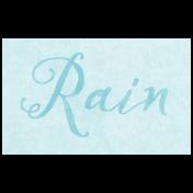 Raindrops & Rainbows- Rain Word Art