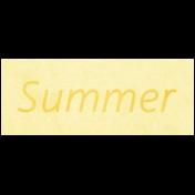 Raindrops & Rainbows- Summer Word Art