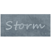 Raindrops & Rainbows- Storm Word Art