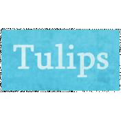 Raindrops & Rainbows- Tulips Word Art