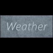 Raindrops & Rainbows- Weather Word Art