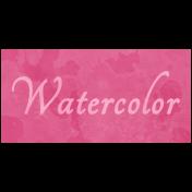 Raindrops & Rainbows- Watercolor Word Art