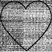 Heart Doodle Template 026