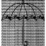 Umbrella Doodle Template 005