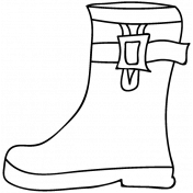 Boot Doodle Template 006