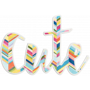 Raindrops & Rainbows- Cute Word Art