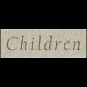 Family Day- Children Word Art