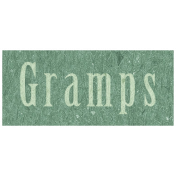 Family Day- Gramps Word Art