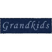 Family Day- Grandkids Word Art