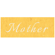 Family Day- Mother Word Art