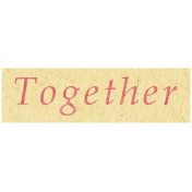 Family Day- Together Word Art