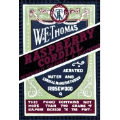 Family Day- Raspberry Cordial Label