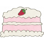 Happy Birthday Mini- Strawberry Cake
