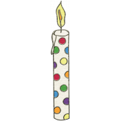 Happy Birthday Mini- Polka Dot Candle
