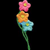 Happy Birthday Mini- Flower Cluster