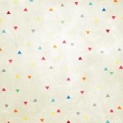 Happy Birthday Mini- Cream Geometric Paper