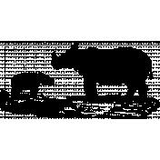 Animal Stamp Template 023