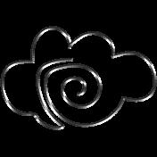 Raindrops & Rainbows- Cloud Doodle Clip