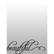 Toolbox Journal Cards Vellum 1- 3x4 Beautiful