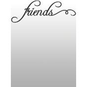 Toolbox Journal Cards Vellum 1- 3x4 Friends