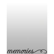 Toolbox Journal Cards Vellum 1- 3x4 Memories