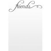 Toolbox Journal Cards Vellum 1- 4x6 Friends