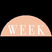 Toolbox Calendar- Date Sticker Kit- Week- Peach Week