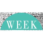Toolbox Calendar- Date Sticker Kit- Week- Teal Week