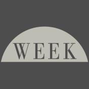 Toolbox Calendar- Date Sticker Kit- Week- White Week