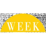 Toolbox Calendar- Date Sticker Kit- Week- Yellow Week