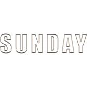 Toolbox Calendar- Day Wire Word Art- Sunday